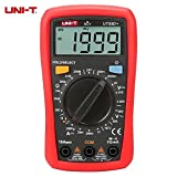 UNI-T UT33D+ 1999 Counts Digital Multimeter with NVC Tester Manual Range 60V Voltage Meter 10A DC Ammeter LCD Backlight