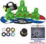 Speed Stacks Combo Set 'The Works'': 12 GREEN 4'' Cups, Atomic Punch Gen 3 Mat, G4 Pro Timer, Cup Keeper, Stem, Gear Bag + Active Energy Necklace