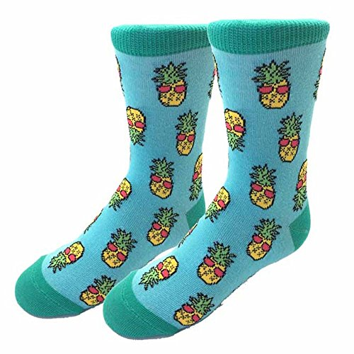 Sock Harbor Retro Pineapples Adult Size 1-5 (Ages 7-10)