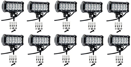 Cutequeen 10 X 36w 3600 Lumens Cree LED Spot Light for Off-road Off Road Lighting SUV Boat 4x4 Jeep Lamp Tractor Marine Rv Atv(pack of 10)