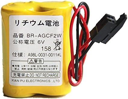 For FANUC BR-2//3AGCT4A 6v A98L-0031-0025//A06B-6114-K504  Battery Black plug