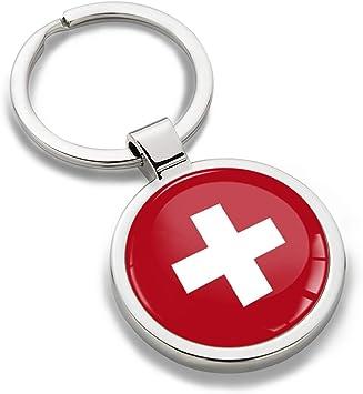Biomar Labs® Llavero de Metal 3D con Bandera Nacional Suiza Swiss Switzerland Flag, Regalo para Hombre y Mujer KK 192: Amazon.es: Coche y moto