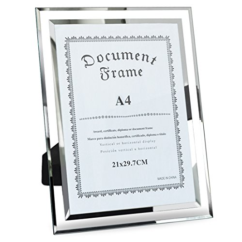 Giftgarden A4 Size Certificate Document Frame for Tabletop D