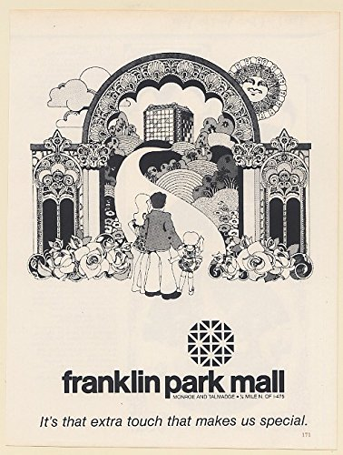 1979 Franklin Park Mall Toledo Ohio Extra Touch Makes Us Special Print Ad - Park Franklin The Mall