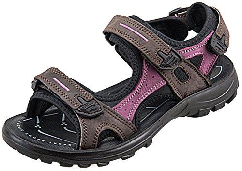 Womens Flate Sporty Strand Sandal Vann Sko Casual Atle Sandaler Brun-lilla