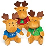 Baker Ross Reindeer Jumper Plush Pals - Perfect Stocking Filler for Children (Pack of 3)