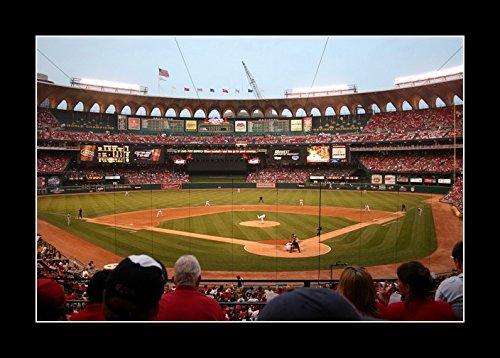 8 x 10 All Wood Framed Photo Old Busch Stadium Baseball