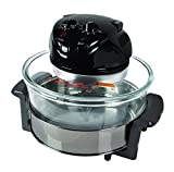 NutriChef Convection Countertop Toaster Oven - Healthy Kitchen Air Fryer Roaster Oven, Bake, Grill, Steam Broil, Roast & Air-Fry - Includes Glass Bowl, Broil Rack and Toasting Rack, 120V - AZPKCOV45