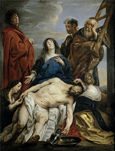 Oil Painting 'Jordaens Jacob La Piedad 1650 60 ' Printing On High Quality Polyster Canvas , 30 X 39 Inch / 76 X 100 Cm ,the Best Garage Gallery Art And Home Artwork And Gifts Is This High Definition Art Decorative Prints On Canvas -