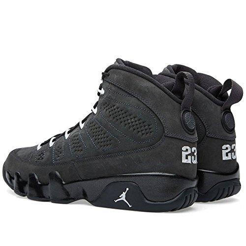 Nike Air Jordan Herren 9 Retro Anthrazit Basketballschuh Schwarz