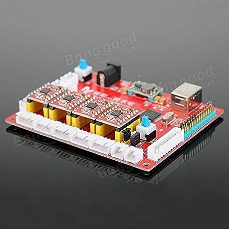 Doradus USB CNC 4 ejes borde láser de controlador de la tarjeta de control de motor paso a paso para el bricolaje grabador láser: Amazon.es: Electrónica