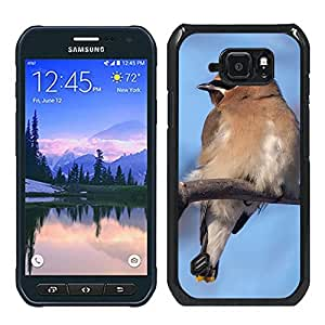 Print Motif Coque de protection Case Cover // F00000227 Ampelis naturaleza aves observación de // Samsung Galaxy S6 Active SM-G890 (Not Fit S6)