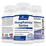 Natrogix Phosphatidyl Serine 100 mg 4-Month Supplement for Support Memory and Brain Function, Helps with Thinking Ability (120 Softgel)