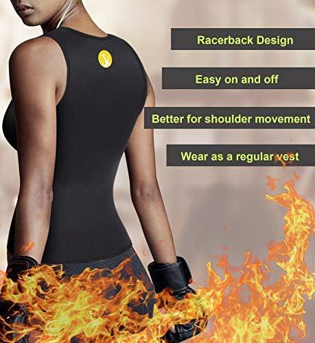 Junlan Neoprene Waist Trainer Vest for Women Corset Workout Body Shaper Cincher Sauna Sweat Tank Top Workout Girdle 3