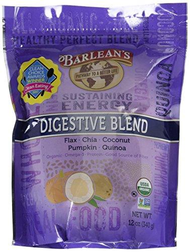 Barlean's Digestive Blend Powder, 12 Ounce Barleans Lignan Rich Flax Oil