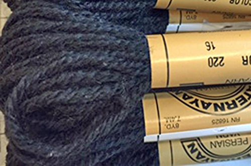 Paternayan Needlepoint 3-ply Wool Yarn-Color-220-Black-MINI-this Listing is for 2 Mini 8-yd skeins-or pre Cut Equivalent