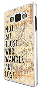 441 - Vitage Wordl Map Not all Those Wonder Are Lost Design For Samsung Galaxy Grand Prime Fashion Trend CASE Back COVER Plastic&Thin Metal