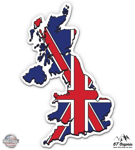UK Great Britain Flag Country Shape - 3