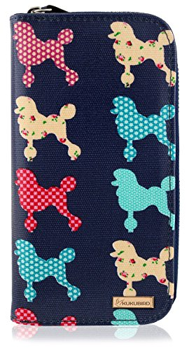 Chihuahua UNICORN Dark Girls Poodle ANCHOR Kukubird Flower Large Ladies CAT Purse Wallet Blue Pattern y6HcqU