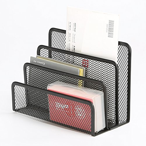 Aojia Desk Mesh Collection Mini Stacking Sorter - 3 Section
