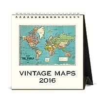Cavallini CAL16-7 2016 Vintage Maps Desk Calendar