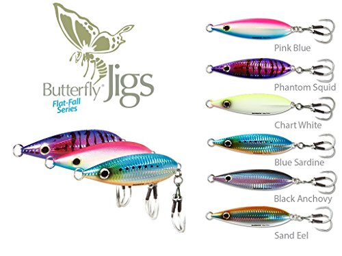 00aabcf8bb8 SHIMANO Butterfly Flat-Fall Jigs- 80g/2.82oz-Chartreuse White(Pack of 2  Jigs)