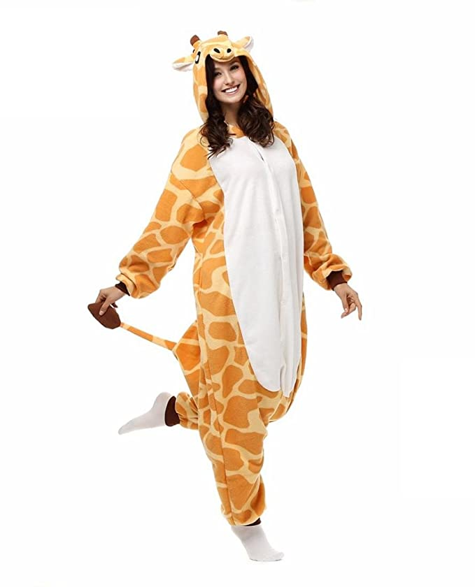 Amazon.com : HYY@ Kigurumi Pajamas Giraffe Leotard/Onesie Halloween Animal Sleepwear Yellow Patchwork Polar Fleece Kigurumi UnisexHalloween / Christmas ...
