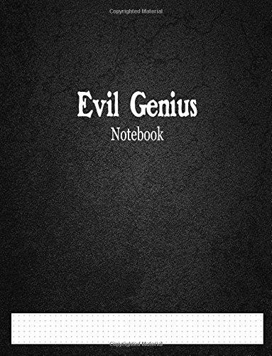"Evil Genius Notebook: 1/6"" Cross Grid Graph Ruled pdf"