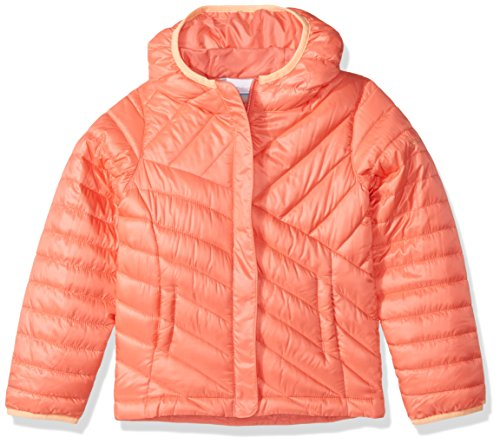 Columbia Big Boys' Powder Lite Puffer Jacket, Hot Coral, X-Large
