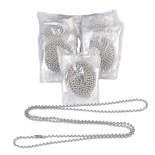 100 Bulk Nickel Plated 30 Inch Ball Chain Necklaces