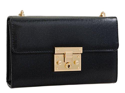 pochette femmes Medium Noir forme clair boite pour haute DIVA or wxH7XTg