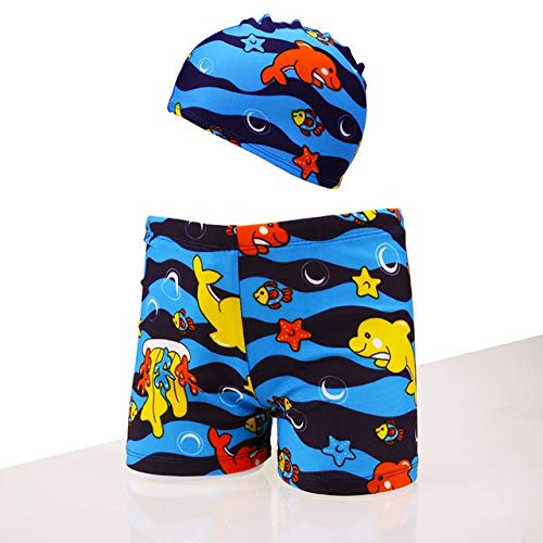 9b14846ae3 Amazon.com: CUSHY y Boys Swim Trunks with Cap Printed Swimwear ...