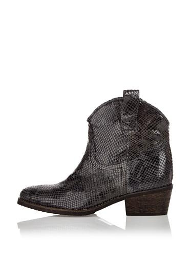 Carla Samuel Stiefelette Damen Cowboy Boots Pyhton Leder Schwarz, Schuhgröße:38