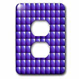 3dRose Russ Billington Patterns - Large Mosaic Tiles Pattern in Purple - Light Switch Covers - 2 plug outlet cover (lsp_261920_6)