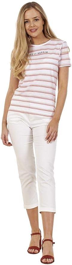 Ex Highstreet Ladies Cotton 3//4 Stretch Crop Cropped Pants Capri Trousers