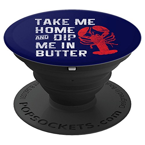 Funny Lobster PopSocket Dip Me In Butter Seafood Festival - PopSockets Grip and Stand for Phones and ()