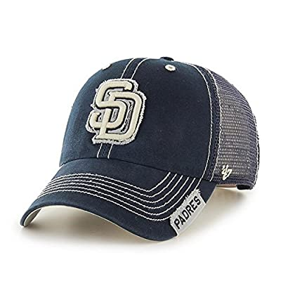 MLB San Diego Padres Unisex MLB San Diego Padres Turner '47 Clean Up Mesh Adjustable Hat, Navy, One Size