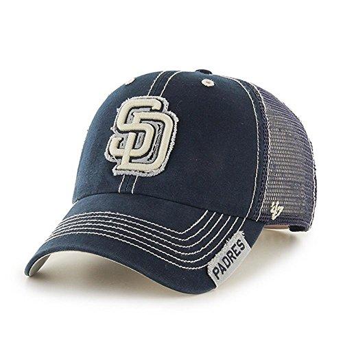 MLB San Diego Padres Unisex MLB San Diego Padres Turner '47 Clean Up Mesh Adjustable Hat, Navy, One Size (San Gear Padres Diego)