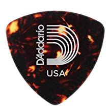 Planet Waves Shell-Color Celluloid Guitar Picks, 10 pack, Medium, Wide Shape