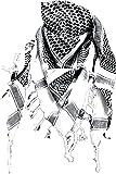 Palestinian Scarf - White Black