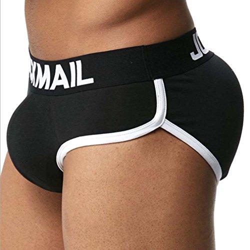 - Rosie Men's Padded Butt Enhancing Boxer Briefs Pack Of 2,Black,M