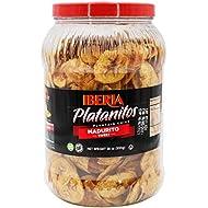 Iberia Naturally Sweet Plantain Chips Jar, 28 Oz (1.75 lb), Maduritos, NON GMO, Gluten Free, Kosher