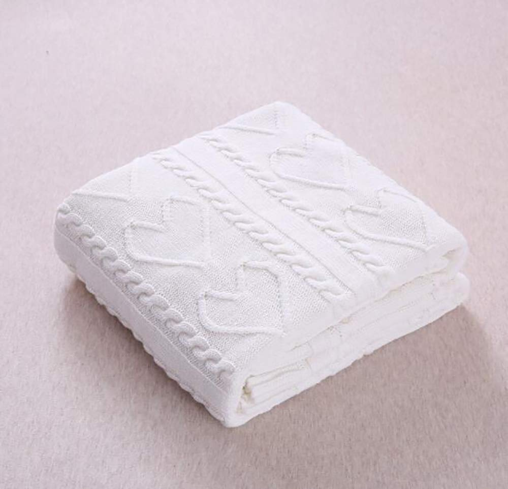 Yunyilian コットンツイスト毛布、ウール毛布、エアコン毛布(綿) (Color : Creamy-white, サイズ : 120/180cm) B07T6F6M4N Creamy-white 120/180cm