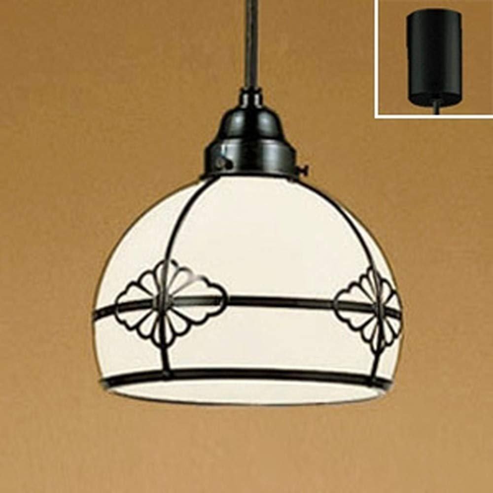 ODELIC オーデリック 和風LEDペンダントライト フレンジ 調光 調光器別売 ガラス 電球色 OP125021LC B00L327DLS