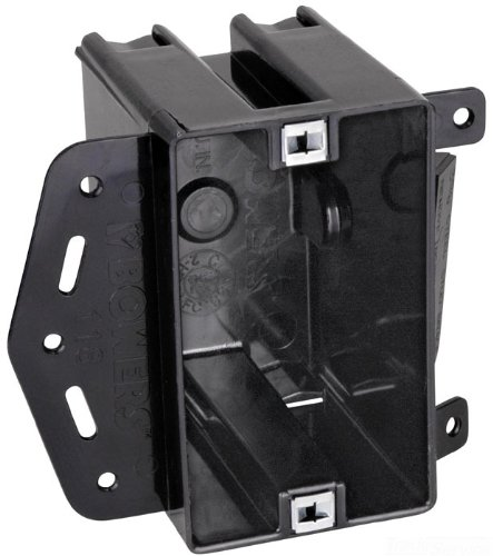 Carlon 118-LBP Outlet Box, New Work, 1 Gang, 3-3/4-Inch Length by 2-1/4-Inch Width by 2-7/8-Inch Depth, Black, 100-Pack