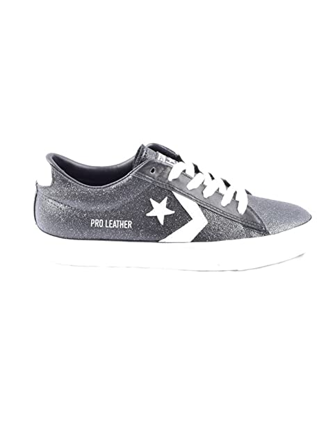 Dettagli su Scarpe sportive donna Converse Pro Leather Vulc 561010C nero glitter