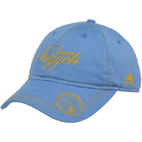 - NBA adidas Denver Nuggets Ladies Light Blue-Gold Slouch Adjustable Hat