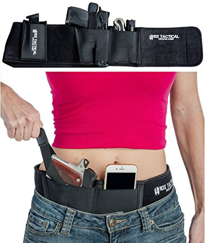 Ultra Belly Band Holster for Concealed Carry: IWB Concealed Carry Belt, Gun Holsters for Pistols & Revolvers, Faster Draw, Fits Glock 17-43, Ruger LCP, Springfield XDS, 380, 9mm & More - Taurus Gun Holster