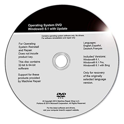 - Windows 8 8.1 Install Disc Repair 32 Bit 64 Bit System Restore Full Recovery Reinstall Home Pro Factory Reset Reboot Troubleshoot OS Machine Repair Shop (R) DVD