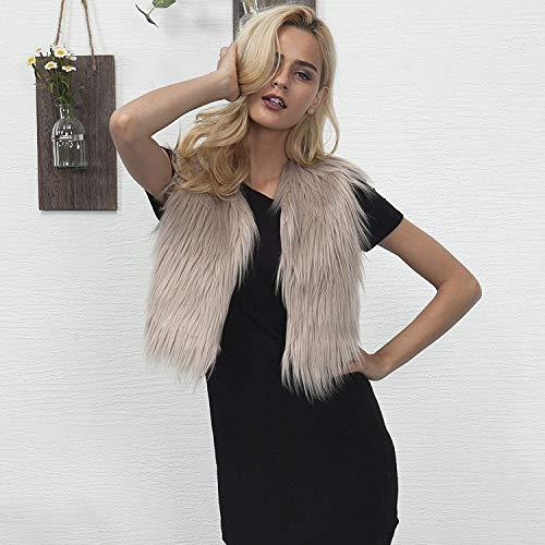 Accogliente Calda Fashion Cappotto Giacca Casual Donna Termico Mode Giacche Autunno Outerwear Corto Eleganti Ecopelliccia Morbidi Invernali Marca Pelliccia Abbottonatura Di Khaki qtqOXwTg
